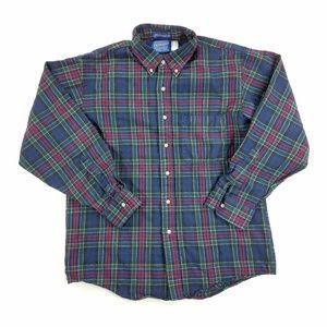 Pendleton 100% Virgin Wool Mens Button Down Short